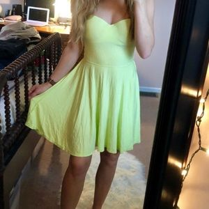 Victoria's Secret Lime Green Strapless Dress